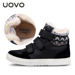 Discount pointed shoes for boys - Uovo Brand Winter Sneakers For Kids Fashion Warm Sport Footwear For Children Big Boys And Girls Casual Shoes Size 30#-39