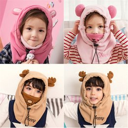 $enCountryForm.capitalKeyWord NZ - Fashion Children Baggy Warm Cartoon Winter Cotton Ski Beanie Skull Slouchy Caps Hat Solid Casual popular cute #4F20