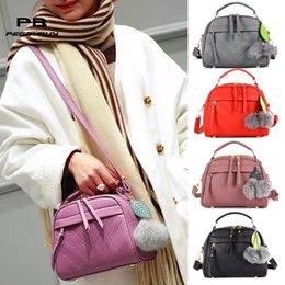 $enCountryForm.capitalKeyWord Australia - Leaf Hair Ball Pendant Shoulder Handbags Ladies Crossbody Bags Leather Shopping Handbag Purses Female Handbag Messenger Bag