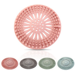 Wholesale Silicone Sink Filter Bathroom Kitchen Sewer Drain Strainers Anti-clogging Shower Drain Covers Kitchen Bathroom Accessories HHA1308