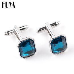 $enCountryForm.capitalKeyWord Australia - Elegant rectangle crystal lawyer cufflinks for mens buttons jewelry Trendy twins cufflinks mens shirt gifts cuff links wholesale