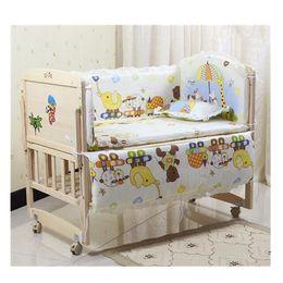 Crib Bumpers Baby Bedding Australia - 5pcs Baby Nursery Bedding Sets Cartoon Cot Bumper Cute Newborn Nursery Bedding Set Fit Infant Baby Crib Set 120x60cm