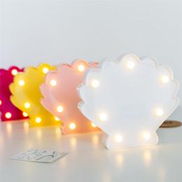 $enCountryForm.capitalKeyWord NZ - Night Lights Warm White Led Night Light Shell Modeling Lamp Desk Light For Baby Kids Bedroom Decoration Battery Drop Shipping