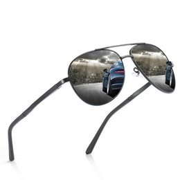 Driving Mirrors UK - High Quality Aluminum Magnesium Men's Polarized Sunglasses Large Frame Driver Driving Toad Mirror + Box Package
