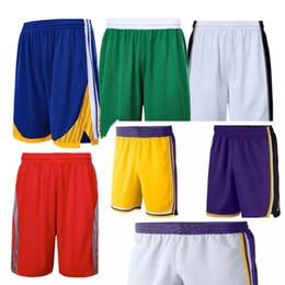 Venta al por mayor de 2019 nueva temporada Pantalones cortos de baloncesto Use ligeros transpirables deportivos ocasionales sueltos pantalones de pelota para hombre todo cosido