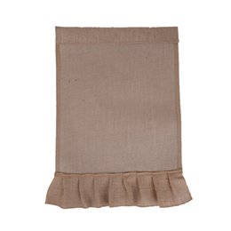 Wholesale shopping bag factory direct wholesales solid color DIY blank jute and PVC coating skirt garden flag bag