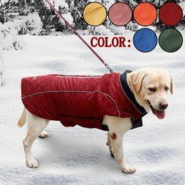 hair vests Australia - Waterproof French Bulldog Big Dog Vest Jacket Winter Warm Pet Dog Clothes For Small Large Dogs Puppy Pug Coat Dogs Pets Clothing