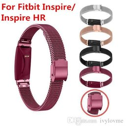 Silver Black Red Australia - Milanese Loop Stainless Steel Strap Bands for Fitbit Inspire Inspire HR Band Black Rose Gold Silver red