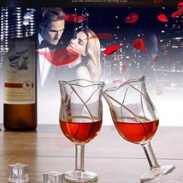 $enCountryForm.capitalKeyWord Australia - 160ML Crystal Whiskey Wine Drinking Cup Beauty Rose KTV Cup Flower shape Beer Glasses Pint Juice Transparent Drink ware Cocktail Holder
