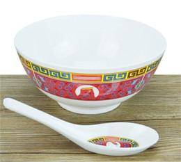 $enCountryForm.capitalKeyWord Australia - Wholesale-Sup Brand Bowl Spoon Set Ceramic Moderate In Size Jubilation Dishware Eco Friendly Reusable Artifact Anti Scald Dinnerware 35frD1