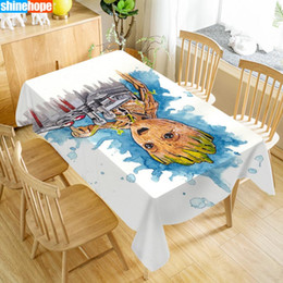 customize table cloth Australia - Customize Tablecloth Baby Groot Oxford Cloth Dust-proof Rectangular Table Cover For Party Home Decor 100X140cm140x250cm