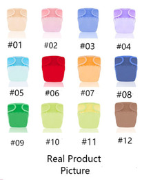wholesale magic color diaper 2020 - 12 Colors Pure Color Baby Diapers Children Cloth Diaper Reusable Nappies Adjustable Diaper Cover Washable cheap wholesal