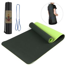 $enCountryForm.capitalKeyWord Australia - 183x61x0.6cm Women Non-slip Yoga Mat TPE Mat for Fitness Yoga Pilates Gymnastics with Carrying Strap and Storage Bag