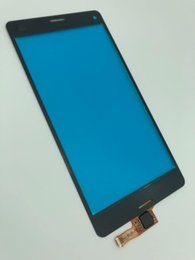 Repair Flex Sensor UK - High quality Touch Digitizer Screen with flex cable for Sony Z3 Mini Touch Screen Sensor Front Glass Panel replacement repair