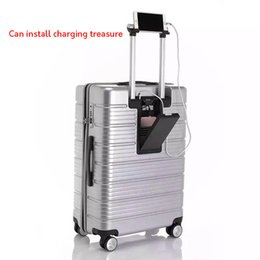 Wholesale LeTrend Multifunction USB Charging Rolling Luggage Spinner Password Trolley inch Suitcase Wheels Women Cabin Travel Bag