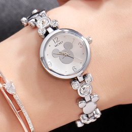 Mouse watches online shopping - Mouse Women Quartz Wristwatches Head Shape Bracelet Watch Girl Students Women Watches Montre Femme Gift