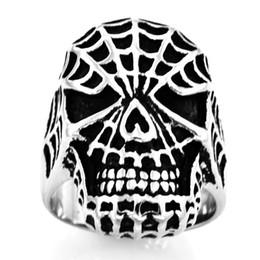 $enCountryForm.capitalKeyWord UK - FANSSTEEL STAINLESS STEEL mens or womens PUNK VINTAGE spiderman Ring BIKER RING SIGNET RING GIFT FSR10W90