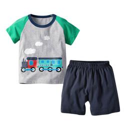 Best Wholesale T Shirts Australia - Summer Boys Clothing Sets short sleeve Boys Suits cotton T shirt+Shorts Kids Outfits kids designer clothes boys Best Suits A3357