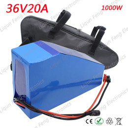 Lithium battery packaging online shopping - 36V AH W Triangle Battery Electric Bike Lithium ion Battery pack V with PVC Soft package case A BMS and V A charger