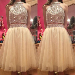 aff386bc1ba58 White halter maternity dress online shopping - Real Images Short Homecoming  Dresses With Beads Crystales Halter