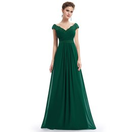 $enCountryForm.capitalKeyWord UK - Robe De 2019 Elegant A Line V Neck Appliques Formal Evening Dress Long Red Formal Wedding Party Gowns Plus Size T190604