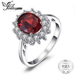 $enCountryForm.capitalKeyWord Australia - Jewelrypalace Princess Diana 3.4ct Natural Red Garnet Ring 925 Sterling Silver Ring Women Fashion Luxury Natural Stone Jewelry J190612