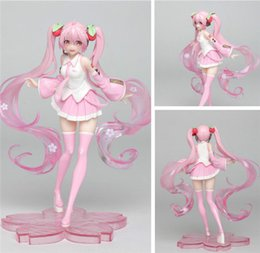 18cm Anime Pink Hatsune Miku Sakura Sexy Girls PVC Action Figures toys Anime figure Toys For Kids children Christmas gifts T200704 on Sale