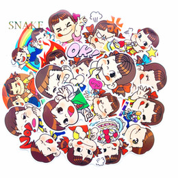 window stickers Australia - 18pcs lot mixed Fujiya stickers Japanese animation waterproof skateboard decal travel stickers for suitcase window accessories