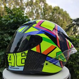 Motorcycle Helmets Yellow Color Australia - Designer Motorcycle helmets motocross racing helmet motorbike full face dual shield helmet unisex available big wing