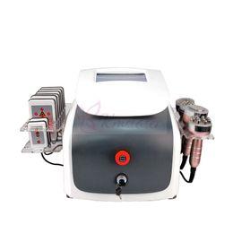 China 6 in 1 ultrasonic 40Khz cavitation Vacuum RF liposuction lipo laser multipolar RF diode laser lipolaser facial skin rejuvenation machine cheap facial rejuvenation laser machine suppliers
