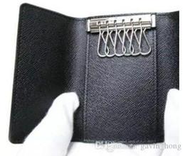 $enCountryForm.capitalKeyWord Australia - Free Shipping!brand new women genuine Leather popular 6 Designer keys purse wallet hand holder small bag with box 62630