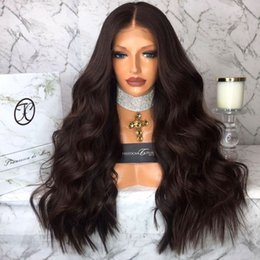 More Body Hair Australia - 150 Denstiy Full Ends Lace Front Human Hair Wigs For Women Black Color Brazilian Body Wave Lace Front Wig Remy Hair