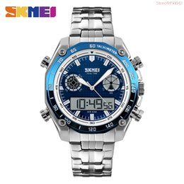 $enCountryForm.capitalKeyWord Australia - SKMEI Sports Watches Men Fashion 30M Waterproof LED Electronic Luxury Watch Stainless Steel Dual Display Wristwatches 1204