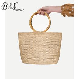 Discount woven spring handbags - BXX Sac   2019 New Fashion Women Spring Summer Vintage Bamboo Knot Hand Woven Straw Packet Holiday Wind Grass Bag Handba