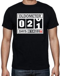 Birthday Party T Shirts Australia - 21st Birthday Oldometer Funny Present Gift Party Son Brother Mens Black T Shirt