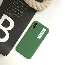 $enCountryForm.capitalKeyWord Australia - ins Green personality English Bye Boy for iphone X mobile phone shell iphone7plus 8 6s matte drop