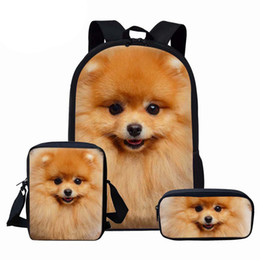 $enCountryForm.capitalKeyWord Australia - NOISYDESIGNS Girls School Bags Cute Animal Dog Pomeranians Prints Kids Backpack for Boys Girls School Book Bags Schoolbag Sets