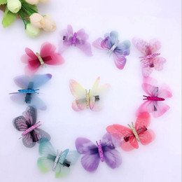 $enCountryForm.capitalKeyWord Australia - 10pcs Fairy Fake Butterfly Hairpin Woodland Party Favor Kid Barrette Cute Theme Party Girls Animal Flying Butterfly Hair Clip