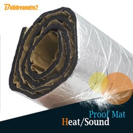 foil car NZ - Buildreamen2 120 x 100CM Car Truck Boat Audio Stereo Aluminum Foil Heat Proof Sound Deadener Muffler Mat Sticker Noise Control