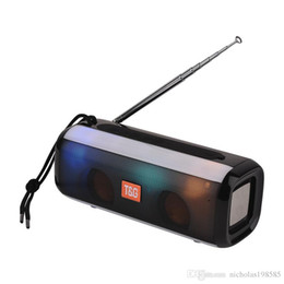 $enCountryForm.capitalKeyWord Australia - TG144 FM Radio Antenna Wireless Bluetooth Subwoofer Speaker Protable LED Light Flash Mp3 Music Player For All Phone PC China Brand TG Logo