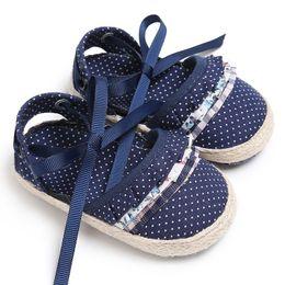 $enCountryForm.capitalKeyWord Australia - Baby Girl Sandals Sandals Princess Casual Shoes Non-Slip Children's 0-18M Bottom Printing Bow Polka-Dot Soft