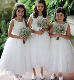 toddler flower girl tutu dresses cheap 2019 - 2019 Vintage Ivory Flower Girls' Dresses Baby Infant Toddler Baptism Clothes With Tutu Tulle Ball Gowns Birthday Pa