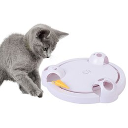 exercise toys NZ - Funny Cat Interactive Pet Cat Toys Automatic Rotating Play Teaser Plate Mice Catch Toy Electric Playing Exercise Toys