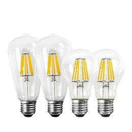led vintage bulb NZ - LED Light Bulb E27 220v A60 ST64 2w 4w 6w 8w Edison vintage Lamp for home chandelier bulb