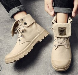 Free Cowboy Boots NZ - Free Shipping New Arrival Hot Sale Specials Super Martin High-Top Cowboy Influx Canvas Lace Up Students Casual Mens Ankle Boots EU39-44