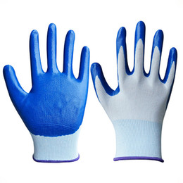 pu coated glove 2019 - Cleaning Tools Accessories Household 1 Pair garden finger glove latex nylon coated with nitrile gardening gloves free si