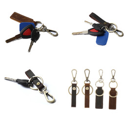 leather snap keychain Australia - Durable Leather Keychain Key Ring Snap Hooks Home Car Key Organizer