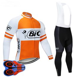 Wholesale culotte pants resale online – 2019 BIC TEAM cycling jersey D gel pad bike pants set Quich dry MTB Ropa Ciclismo long sleeve bicycling Maillot culotte