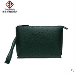 Hand Bag Manufacturers NZ - weitasi Ostrich skin lady hand bag leisure envelope bag without stitching manufacturers direct sales
