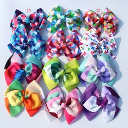 double bow hair clips Australia - 12pcs jo jo 7'' grosgrain ribbon Double layer hair bows hair clips rainbows bow hairpin girls hairbow For Teens gift